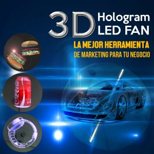 3D Hologram LED FAN